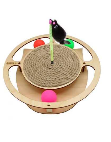 Игровой комплекс Круг с шариками, игрушкой, когтеточкой из каната