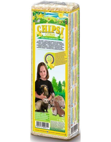 Наполнитель древесный для грызунов Chipsi Citrus с ароматом лимона