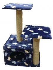 """Комплекс для кошек  """"дом с полками и двумя входами"""""""