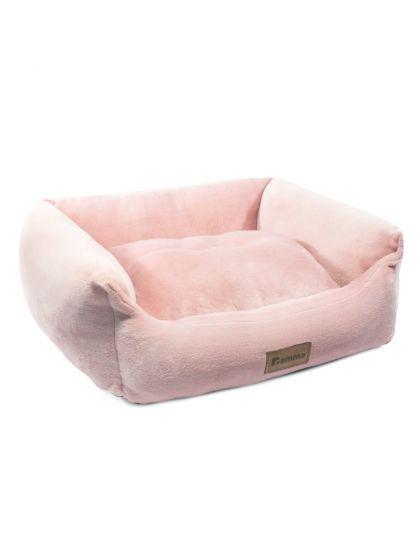 Лежанка прямоугольная Лилия, розовая