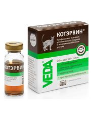 КОТЭРВИН для профилактики и лечения мочекаменной болезни и урологического синдрома у кошек
