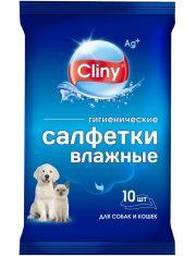 Cliny Влажные гигиенические салфетки для собак и кошек