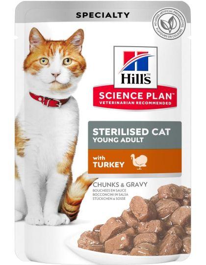 Science Plan для стерилизованных кошек в возрасте 6 месяцев - 6 лет, с индейкой