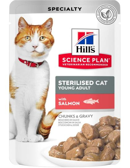Science Plan для стерилизованных кошек в возрасте 6 месяцев - 6 лет, с лососем