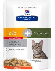 PRESCRIPTION DIET Metabolic + Urinary Stress с курицей
