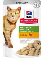 Science Plan Youthful Vitality для пожилых кошек старше 7 лет, курица