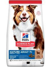 Science Plan для собак средних пород старшего возраста с ягненком и рисом