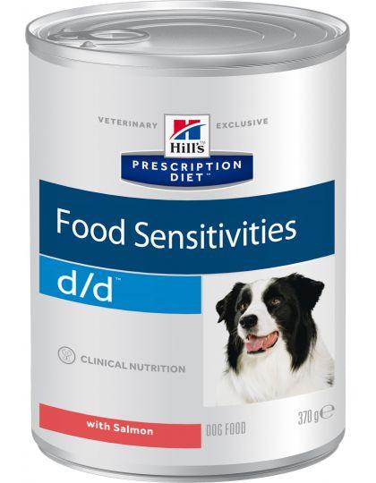 PRESCRIPTION DIET d/d Food Sensitivities Salmon для собак для поддержания здоровья кожи и при пищевой аллергии с лососем