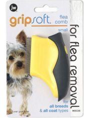 Расческа для собак для вычесывания блох маленькая