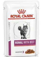 Renal с говядиной (диета) кусочки в соусе для взрослых кошек с хронической почечной недостаточностью