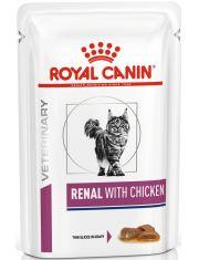 Renal c курицей (диета) кусочки в соусе для взрослых кошек с хронической почечной недостаточностью