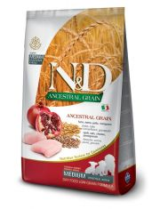 N&D ANCESTRAL GRAIN Chicken & Pomegranate Puppy Medium низкозерновой корм для щенков с курицей и гранатом