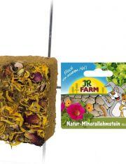 Натуральный минеральный суглинистый камень с цветками для грызунов
