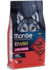 BWild LOW GRAIN низкозерновой корм из мяса оленя для взрослых собак всех пород