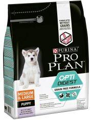 Grain Free Formula для щенков средних и крупных пород с чувствительным пищеварением, с высоким содержанием индейки