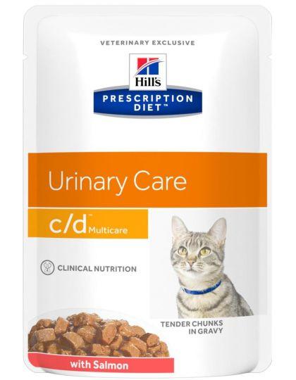 Prescription Diet c/d Multicare для кошек с лососем