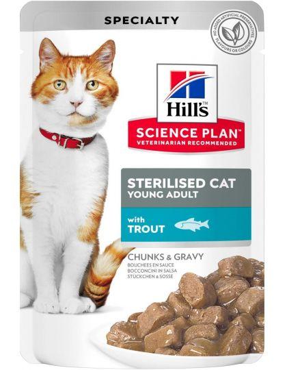 Science Plan для стерилизованных кошек с форелью