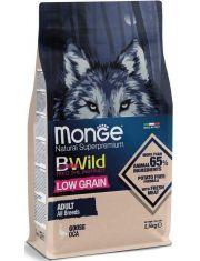 BWild LOW GRAIN низкозерновой корм из мяса гуся для взрослых собак всех пород