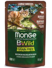BWild GRAIN FREE паучи из мяса буйвола с овощами для кошек крупных пород