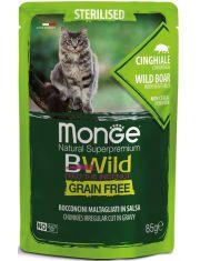 BWild GRAIN FREE паучи из мяса дикого кабана с овощами для стерилизованных кошек