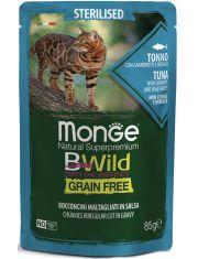 BWild GRAIN FREE паучи из тунца с креветками и овощами для стерилизованных кошек