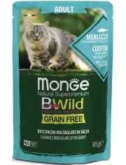BWild GRAIN FREE паучи из трески с креветками и овощами для взрослых кошек