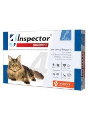 INSPECTOR Quadro капли для кошек от 8 до 15 кг от внешних и внутренних паразитов