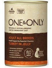 Индейка в желе консервы беззерновые для взрослых собак от 1 года