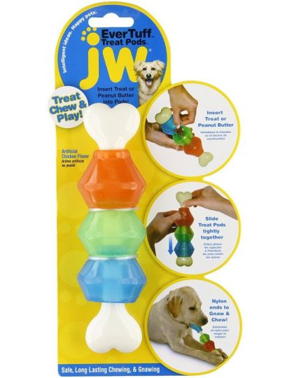 Игрушка для собак Косточка с контейнерами для лакомства EverTuff Treat Pods for Dog