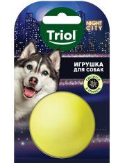 Игрушка NIGHT CITY для собак из винила Мяч-неон светящийся