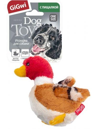 Утка с пищалкой  игрушка для собак