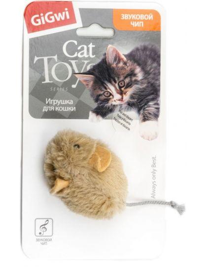 Мышка со звуковым чипом игрушка для кошек