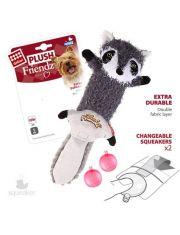 Енот-шкурка с 2-мя пищалками игрушка для собак суперпрочная