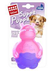 Бегемотик с пищалкой Suppa puppa игрушка для щенков
