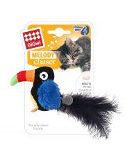 Тукан со звуковым чипом игрушка для кошек