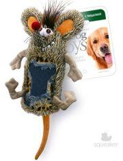 Мышь с большой пищалкой игрушка для собак