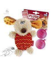 Собачка с 2-мя пищалками игрушка для собак
