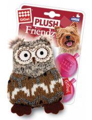 Сова с 2-мя пищалками игрушка для собак