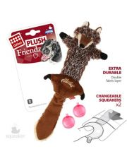 Волк с 2-мя пищалками игрушка для собак