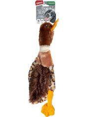 Утка с горловой пищалкой игрушка для собак