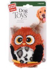 Сова с большой пищалкой игрушка для собак