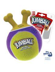 Мяч с захватом Jumball для маленьких и средних собак из теннисной резины