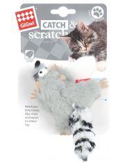 Белка-енот игрушка для кошек с кошачьей мятой