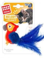 Попугай со звуковым чипом игрушка для кошек