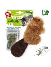 Игрушка для кошек Бобер с кошачьей мятой + 3 пакетика