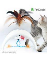 Интерактивная игрушка с датчиками движения для кошек Feather Spinner