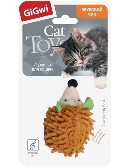 Ежик с музыкальным чипом игрушка для кошек