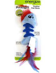 Игрушка для кошек Play Fish Bone голубая