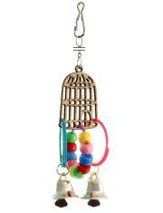 Клетка с колокольчиками игрушка для птиц