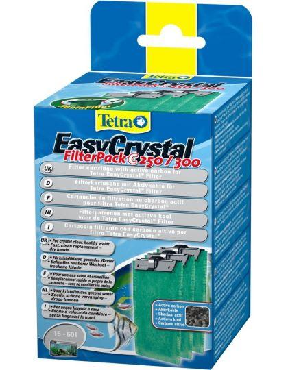 Tetra EC 250/300 фильтрующие картриджи с углем для внутренних фильтров EasyCrystal 250/300